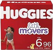 Huggies Little Movers 婴儿纸尿裤,尺码 6,96 Ct