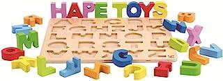 Hape 字母积木学习拼图   木制字母彩色教育拼图玩具板,适合幼儿和儿童,多色拼图