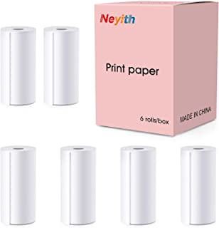 Magicfun 儿童相机补充装打印纸,零墨水 6 卷热纸,打印纸(白色)