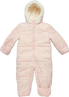 Pink Platinum 女婴连体羽绒冬季雪衣带帽(新生儿和婴儿)