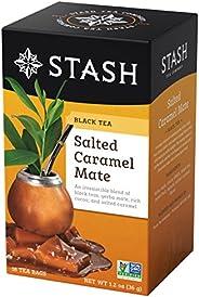 Stash Tea 盐味焦糖伴侣红茶和伴侣混合茶 18 包铝箔茶包(6 包)(包装可能不同)单个红茶包,适用于茶壶马克杯或杯子,冲泡热茶或冰茶