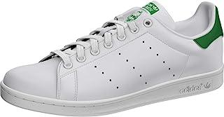 Adidas 阿迪达斯 Originals Stan Smith 男士运动鞋 White/White/Dark Blue 8.5 M US Stan Smith Leather