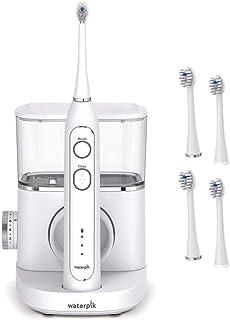 waterpik 洁碧 洁碧 白色 Sonic-Fusion 牙刷和刷头(2支装)同时刷牙软毛轻轻地刷洗,而水牙线则可去除牙齿和牙龈上的牙垢和碎屑。