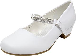 Adingshine 大女孩礼服高跟鞋,带水钻带