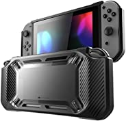 Mumba 保护套适用于 Nintendo Switch 2017 版 [重型] 超薄橡胶 [ 卡扣式 ] 硬壳保护套(黑色)