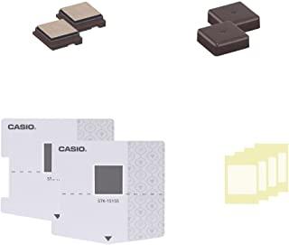 CASIO 卡西欧 计算器 pomrie 柱式换装座椅 印章印刷面制作套件 2套 15×15mm 棕色