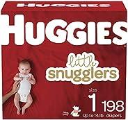 HUGGIES Little Snugglers 婴儿尿布,尺码 1,198片,1个月用量