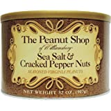 The Peanut Shop of Williamsburg 精制弗吉尼亚花生,海盐和裂纹胡椒,32 盎司(约 907…
