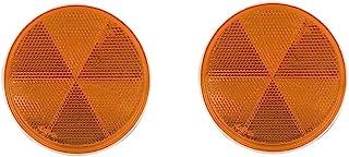 贴上圆形标记反光条 - 通用*辐条反光贴纸胶粘快速安装定制配件*套件适用于汽车、拖车、卡车、露营房车、雪机(琥珀色,2 件装)