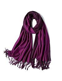 sojos both-side 彩色双面羊绒羊毛女式围巾包头披巾挤压 sc302