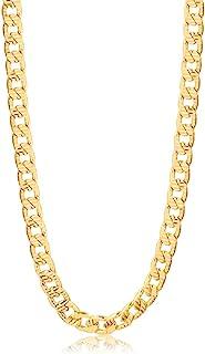 Barzel 18k 镀金 5MM 钻石切割古巴链项链 适合男士、女士和青少年