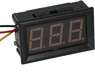 Heyiarbeit 直流电压表 V20D 数字黑色文字 LED 数字电压表 3 根电线连接用于直流电压测量 1 件