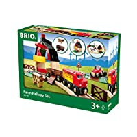 BRIO World 農場火車套裝,與所有BRIO火車套裝兼容,適用于3歲及3歲以上兒童