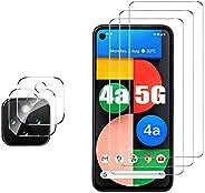 GESMA 适用于 Google 谷歌 Pixel 4a 5G 屏幕保护膜和相机保护器,[3 个屏幕保护膜 + 2 个相机保护器][触摸感应][不适合4a 4G] Google 谷歌 Pixel 4a 5G的钢化玻璃屏幕