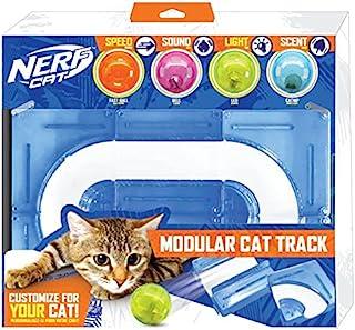 Nerf 狗狗礼品套装 - 15 英寸 x 10 英寸 ABS 涡轮猫轨道,带 2 英寸空心球和 2 英寸钟形球和 2 英寸的 LED 球和 2 英寸猫薄荷球
