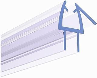 "TONYRENA 无框淋浴门底部密封条 – 防止淋浴泄漏并创造防水屏障(1/2"" x 36"",透明乙烯基)"