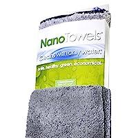 Life Miracle Nano 毛巾 - 神奇的生态面料只用水清洁几乎任何表面。不再有纸巾或有毒化学物质。(35.56x35.56,灰色)