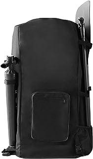 LKEREJOL 充气桨板包,大容量户外防水拉链封口背包可调节船桨存储背包站立桨板袋水上运动(黑色)
