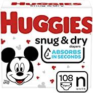 Huggies Snug & Dry 婴儿尿布 NEW Giga Pack Newborn (108 Co