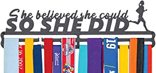 FitGoalz *牌支架跑步*牌衣架展示架 适用于马拉松运动员摔跤女孩体操丝带运动金属支架 - DID