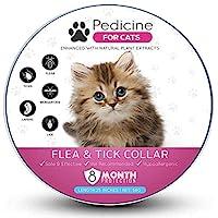 Pedicine 猫跳蚤项圈(2件装)适用于跳蚤和虱子*   均码适合所有,项圈适用于猫咪,* 天然