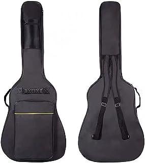 41 英寸加厚原声吉他背包防水厚吉他袋软罩黑色电吉他装备袋儿童吉他旅行箱双可调节肩带包带拉链