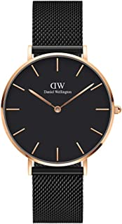 Daniel Wellington Petite Ashfield Watch, Matte Black Mesh Bracelet
