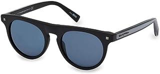 2018 Ermenegildo Zegna ZEISS Lens EZ0095 02X Men Matte Black Round Pantos Sunglasses
