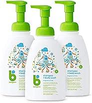 BabyGanics 甘尼克宝贝 婴儿洗发水+沐浴露泵瓶,无香料,包装可能有所不同,16盎司/473毫升,3件