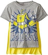 Transformers 变形金刚 男孩 Bumblebee Roll Out T 恤,带披风