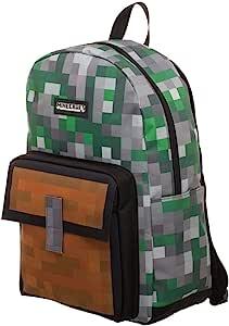 Minecraft Squares 全身印花背包书包
