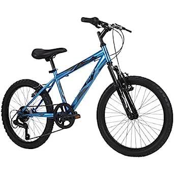 Huffy Kids Hardtail 男童山地自行车,Stone Mountain 20 英寸(约50.8厘米) 6 速,金属青色 (73808)