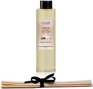 LOVSPA 芦苇扩散器油补充装,带替换香味棒   多种香料可供选择   采用天然精油制成   美国制造 Soothe Tahitian Vanilla Bean 4盎司
