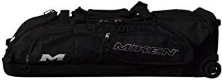 Miken Sports Pro MKBG18-WB-BLK 滚轮包 单个蝙蝠区域,可容纳 4 个球棒,黑色