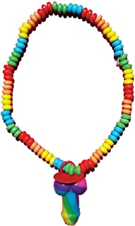 Rainbow Cock 弹性糖果项链