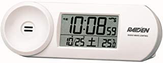 Seiko 精工 座钟 02:白 主体尺寸:5.1x14.4x4.2cm 电波 电子 大音量 PYXIS RAIDEN BC407W