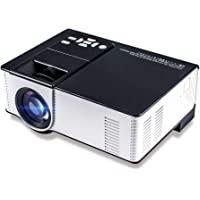 Zeacool 视频投影仪,*新*版 LED 便携式家庭影院投影仪,支持1080P,兼容于Fire TV Stick,P…