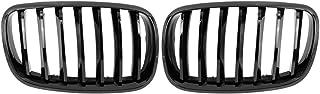 X AUTOHAUX 亮面黑色引擎盖肾杆前格栅适用于宝马 X5 X6 E70 E71 4门 2007-2013