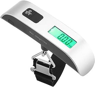 口袋加重秤,超便携数码悬挂行李秤,带迷你尺寸 LCD 显示屏,室温显示,低功率指示和过载保护功能,*大载荷 50 千克