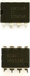 Todiys 新款 5 件适用于 X9C104 X9C104P X9C104PIZ X9C104P-IZ X9C104P-ZI DIP-8 数字电位器 IC X9C104PZI