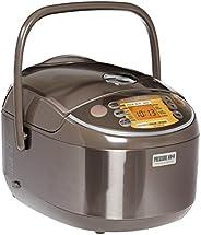 ZOJIRUSHI 象印 NP-NVC18 感應加熱保溫壓力鍋,10杯,不銹鋼棕,日本制造