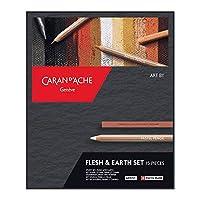 Caran DAche 艺术绘画插图过渡艺术家套装(3 套) Flesh & Earth Set (15 Pieces) 彩色