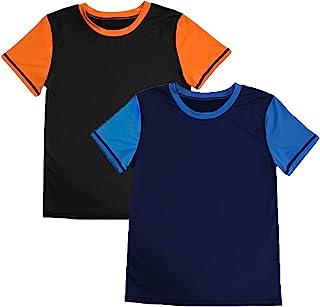 青少年男孩女孩运动压缩短袖衬衫健身运动技术衬衫运动衫性能训练上衣