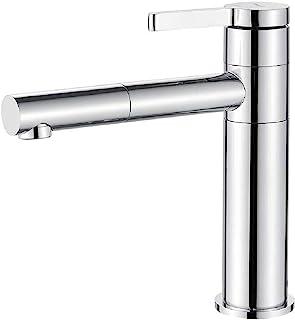 Ibergrif M11199 高大面盆搅拌机,浴室龙头,镀铬,银色