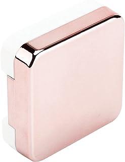 镜头盒、隐形眼镜旅行套装接触盒,带清洁垫圈精致美观,适合日常户外(浅粉色)