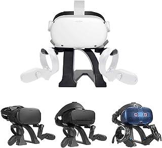 HIJIAO 2020 *版 VR 支架,耳机显示支架和控制器支架支架适用于 Oculus Quest 2 / Oculus Ques/Rift/Rift S/GO/HTC Vive/Vive Pro/Valve Index VR 耳机和触摸控制器