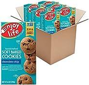 Enjoy Life Foods 051559巧克力曲奇饼干无大豆/乳制品/麸质/坚果,适合素食主义的饼干 6 盎司(170g) 6盒装