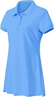 JINSHI 女式 T 恤连衣裙徒步/网球/高尔夫/休闲舒适柔软的女式运动连衣裙