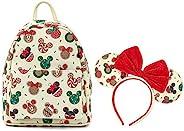Disney 圣诞节米奇和米妮饼干头带双肩带单肩包礼品套装