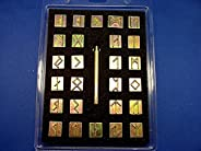 """Runic/Celtic Alphabet Stamp Set 3/4"""" (with Stamping Ha"""